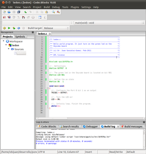 CodeBlock IDE and PIC microcontrollers - WikiRobotics